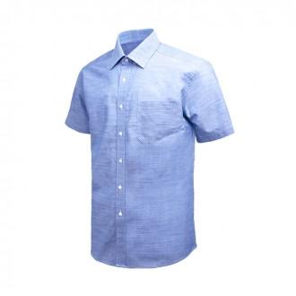 프리 라인 블루 레귤러 반팔 셔츠 DW37-23
