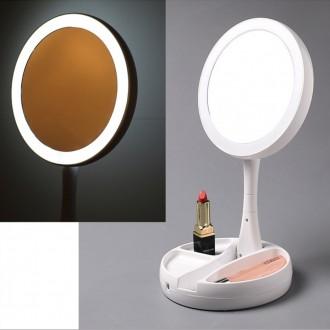 아워리빙 LED 양면 탁상 거울 화장대 케이블증정