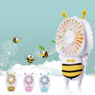 꿀벌 디자인 LED 미니선풍기 /USB/충전식/휴대용/핸디