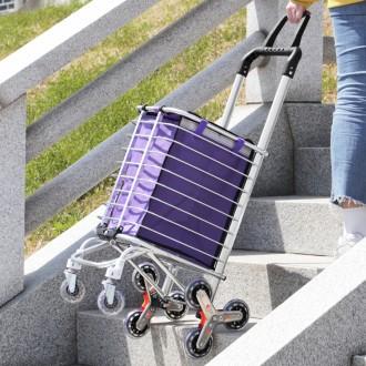 계단도 사용가능한 접이식 세바퀴 시장카트