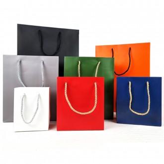무채색 쇼핑백 4사이즈 단색 무지 종이쇼핑백