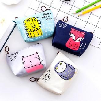 동전지갑 동물 파우치 카드지갑 아름다운도매