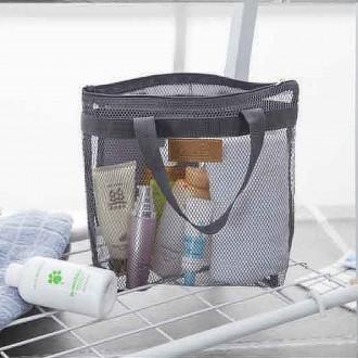 [히트템] 매쉬 목욕가방 파우치 망사가방 수영 비치백