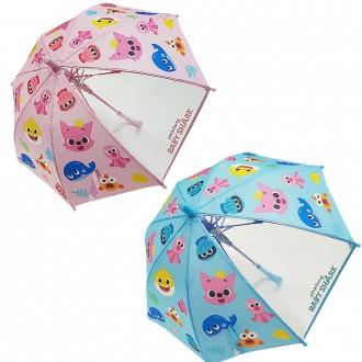 핑크퐁 40 캐릭터 자동 장우산 아동우산 자동우산