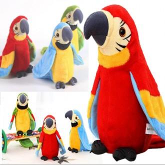 말하는 앵무새 인형 노래 피규어 동물인형 녹음인형 어린이날선물 말하는인형 장난감 작동완구 소품 장식