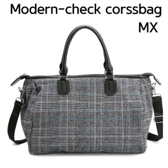여우창고) 모던체크MX 크로스 보스턴백 여행가방 가방