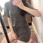 천사 반팔세트 멜란지원단 천사바지 수면바지 잠옷