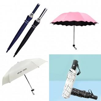 런웨이브 5단 양우산 초경량 미니멀 암막 우산겸용 방