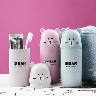 휴대용 곰 어린이집 칫솔케이스 여행용 세면도구