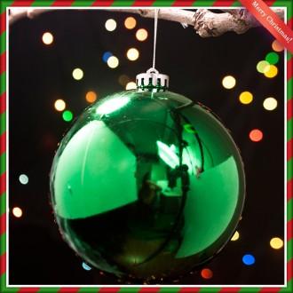 [N]그린 유광볼 크리스마스 대형 트리 장식 14cm