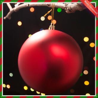 [N]레드 무광볼 크리스마스 트리 장식 12cm