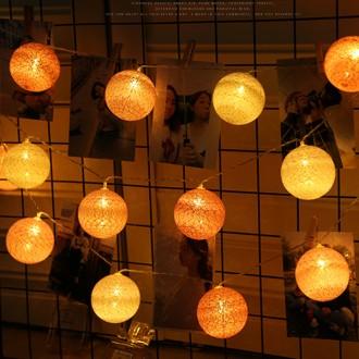 LED 코튼볼조명 20구 인테리어조명 무드등 취침등