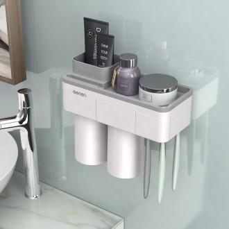 칫솔걸이 양치컵세트 욕실 다용도 수납홀더 2구컵