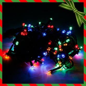 [N]NEW 100구 녹색선 LED 칼라전구/트리전구
