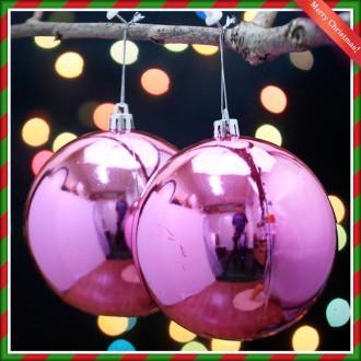 [N]2p 핑크 유광볼 트리볼 트리장식품 장식 큰볼