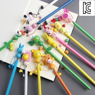 [N]동물친구 원목 연필/어린이선물 캐릭터연필 팬시연