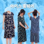 [리원패션] 냉장고 반팔 원피스 G001