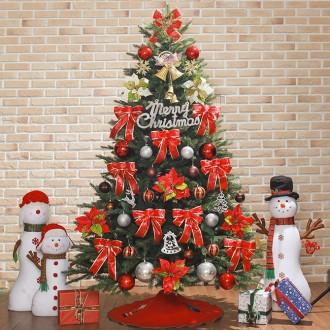 [N]210cm 카니발레드 전나무혼합 성탄트리 풀세트