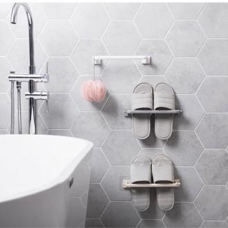 [도매콜] ABM(C) 접착 욕실수건걸이 화이트