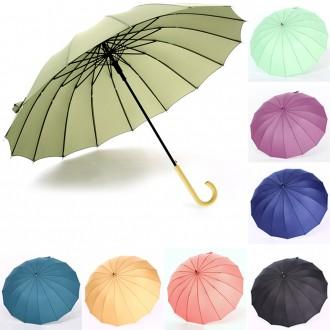 레트로 16K 방풍 자동 장우산 복고풍 우산 우비 양산