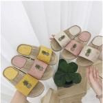 [원가세일 ] 과일 파인애플 왕골 밀집 슬리퍼/샌들/신