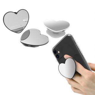 프리모 국산 하트 거울/미러 스마트폰톡 그립톡 거치대 / 답례품/사은품/판촉
