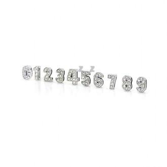 실버 큐빅 숫자 펜던트/숫자비즈/숫자구슬/악세사리