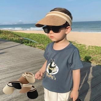 [앙상블] 아동 리본 밀집 썬캡/아동모자/썬햇/선캡