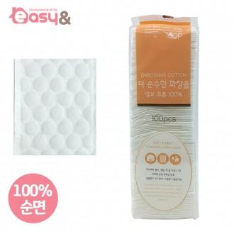 화장솜/더순수한화장솜 엠보코튼(100P)비닐/클렌징