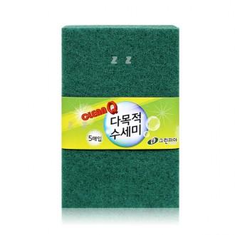 그린피아 다목적 수세미 5매입 -H/초록수세미/설거지