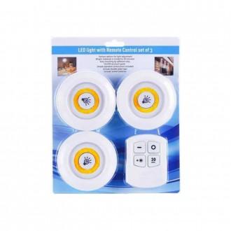 LED 롱거라이트 퍽라이트 조명 [무드등3+리모컨1]