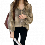 모던스타일 가을봄 블라우스 신상 체크 루즈핏 모던셔츠 2컬러 (재입고완료)