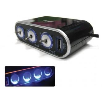 차량용 USB 멀티소켓 스위치 3구 소켓 2500mA 충전기