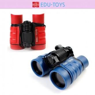 에듀토이 어린이 쌍안경 망원경 4x32mm 레드/블루