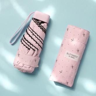 레이스미니양산/3단UV차단양우산/리본무늬 암막양우산/우양산/우산/접이식우산