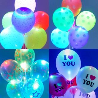 LED라이트풍선(4개입) 생일 파티 풍선 장식 KC인증