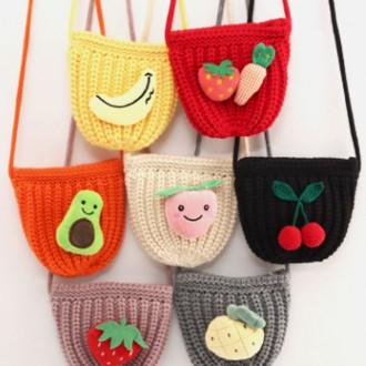아동용 겨울 포인트 니트가방