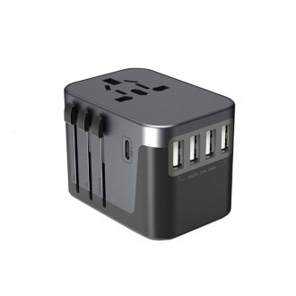 [루키] 5포트 USB 5.6A 고속충전 멀티 플러그 어댑터