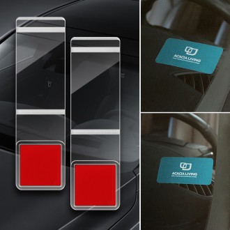 유리창용 투명홀더 자동차 폰번호 차핸드폰번호 명함
