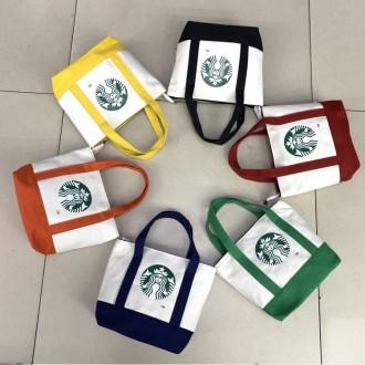 스타벅스 신형 사각토드백/에코백/보조가방