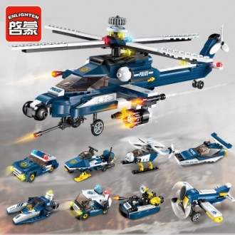 경찰헬기8종세트가/레고형블럭/크리스마스선물사은품/장난감