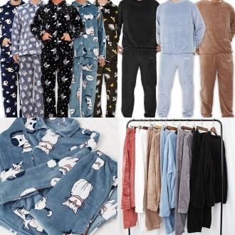 남자여자 수면잠옷 수면세트 겨울잠옷 밍크잠옷 파자마 바지