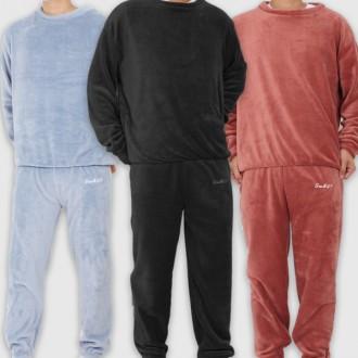 남성 초극세사 수면잠옷 세트 겨울잠옷 상하의세트