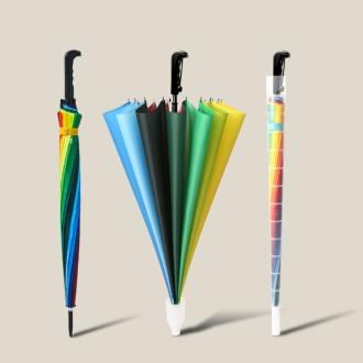 장우산/튼튼한 무지개우산/레인보우우산/반자동우산/골프우산