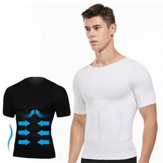 남자보정속옷 이너핏 뱃살 가슴살 보정 반팔 티셔츠