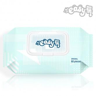 이지톡 물티슈 도톰한 엠보싱 캡형 1팩(60매)