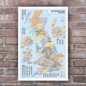영국지도 포스터 (GN0147)