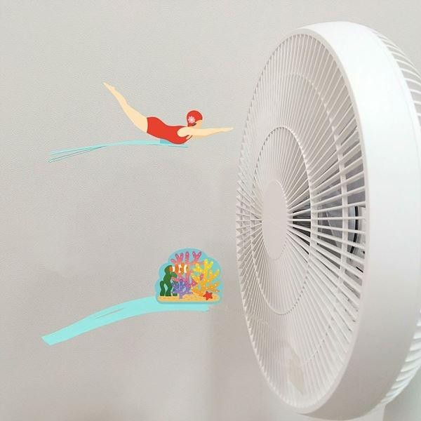 Fan-Fal 선풍기에 붙이는 쿨한 친구들 선풍기데코 선풍기