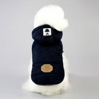 [애구애구] 강아지 겨울옷 패딩 조끼 후드티