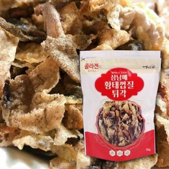 삼남매 황태껍질 튀각 명태껍질 부각 맥주안주 100g